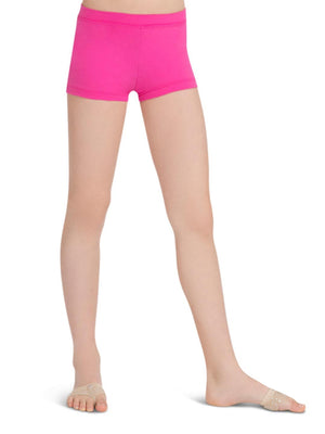 Capezio Boys Cut Low Rise Short - Girls - Pink - Front - Style:TB113C