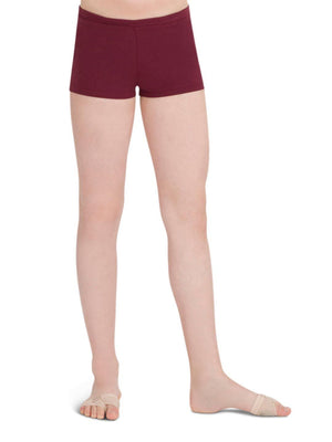 Capezio Boys Cut Low Rise Short - Girls - Brown - Front - Style:TB113C