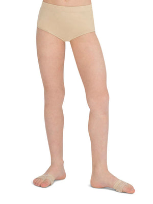 Capezio Brief - Girls - Tan - Front - Style:TB111C