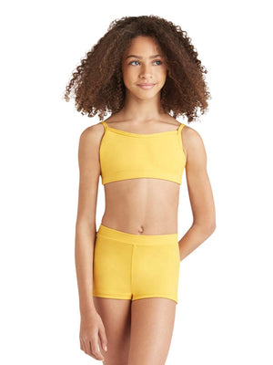 Capezio Camisole Bra Top - Girls - Yellow - Front - Style:TB102C