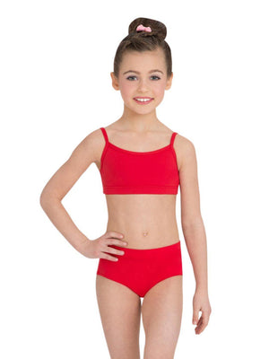 Capezio Camisole Bra Top - Girls - Red - Front - Style:TB102C
