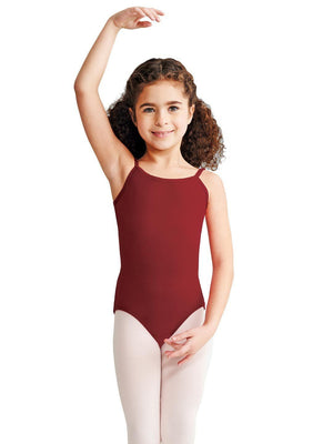 Capezio Camisole Leotard w/ Adjustable Straps - Girls - Red - Front - Style:CC100C