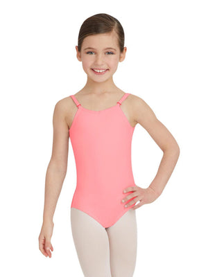 Capezio Camisole Leotard w/ Adjustable Straps - Girls - Pink - Front - Style:TB1420C
