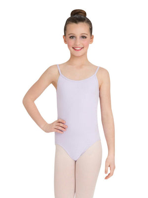 Capezio Camisole Leotard w/ Adjustable Straps - Girls - Purple - Front - Style:CC100C
