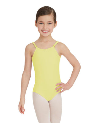 Capezio Camisole Leotard w/ Adjustable Straps - Girls - Yellow - Front - Style:TB1420C