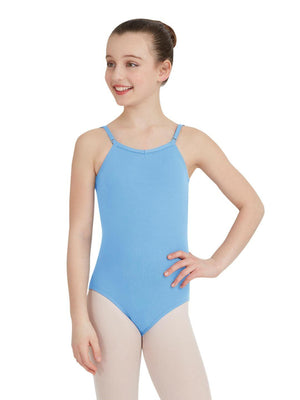 Capezio Camisole Leotard w/ Adjustable Straps - Girls - Blue - Front - Style:TB1420C