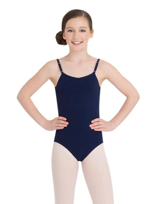 Capezio Camisole Leotard w/ Adjustable Straps - Girls - Blue - Style:TB1420C