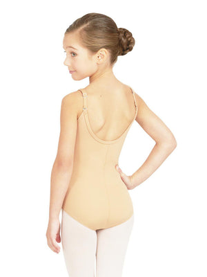 Capezio Camisole Leotard w/ Adjustable Straps - Girls - Tan - Style:TB1420C
