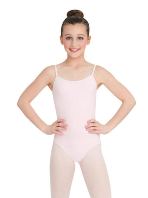 Capezio Camisole Leotard w/ Adjustable Straps - Girls - Pink - Front - Style:CC100C
