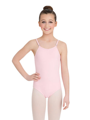 Capezio Camisole Leotard w/ Adjustable Straps - Girls - Pink - Style:TB1420C