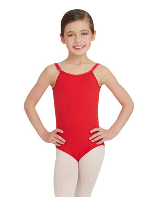 Capezio Camisole Leotard w/ Adjustable Straps - Girls - Red - Front - Style:TB1420C
