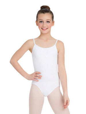 Capezio Camisole Leotard w/ Adjustable Straps - Girls - White - Style:CC100C
