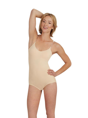 Capezio Camisole Leotard with Bratek® - Tan - Front - Style:3565