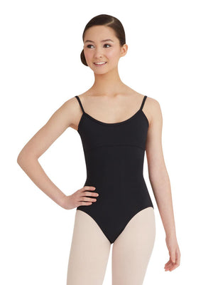 Capezio Camisole Leotard w/ Twist Back - Black - Front - Style:MC102