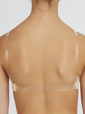 Capezio Clear Back Strap (6 pack) - No Color - Front - Style:STRP2