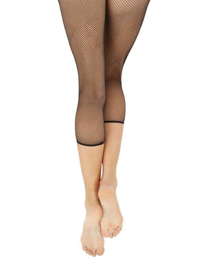 Capezio Crop Studio Fishnet Tight - Black - Front - Style:3409W