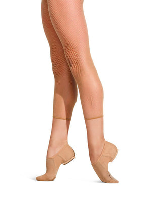 Capezio Crop Studio Fishnet Tight - Tan - Style:3409W