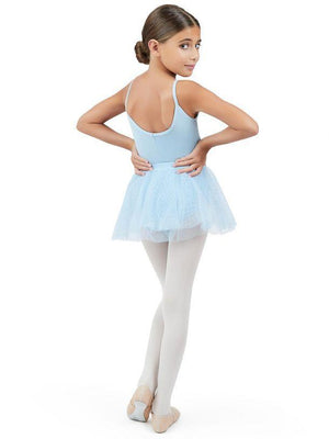 Capezio Double Layer Pull On Skirt Light Blue - Blowout
