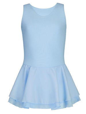 Capezio Double Layer Skirt Tank Dress - Girls - Blue - Front - Style:CC877C