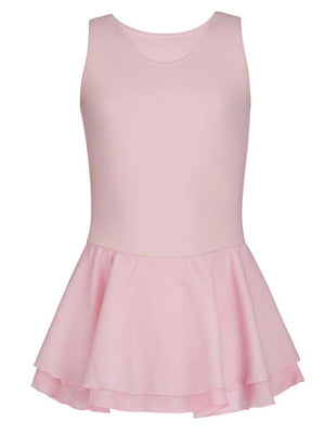 Capezio Double Layer Skirt Tank Dress - Girls - Pink - Front - Style:CC877C
