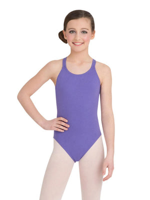 Capezio Double Strap Camisole Leotard - Girls - Purple - Front - Style:CC123C