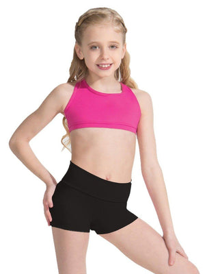 Capezio Fold-Over Boyshort - Girls - Black - Style:TB242C