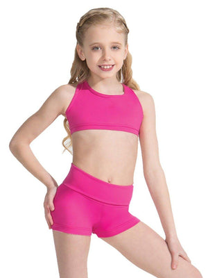 Capezio Fold-Over Boyshort - Girls - Pink - Style:TB242C