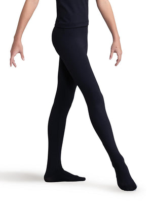 Capezio Boy's Ultra Soft™ Footed Tight - Black - Front - Style:10361B