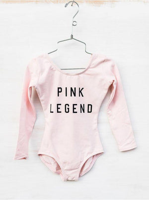Capezio Ford And Wyatt Pink Legend Long Sleeve Leotard - Girls