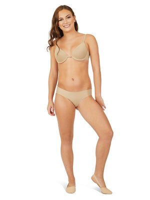 Capezio Foundations Brief - Girls - Tan - Front - Style:3754T