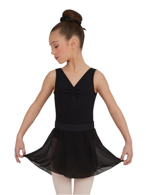 Capezio Girls Pull-On Skirt - Girls - Black - Front - Style:TC0011C
