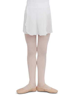 Capezio Girls Pull-On Skirt - Girls - White - Front - Style:TC0011C