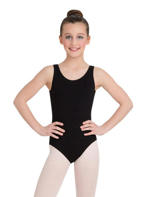 Capezio High-Neck Tank Leotard - Girls - Black - Front - Style:CC201C