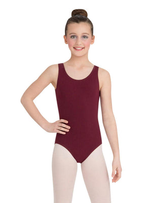 Capezio High-Neck Tank Leotard - Girls - Red - Front - Style:CC201C