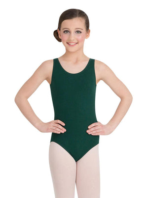 Capezio High-Neck Tank Leotard - Girls - Green - Front - Style:CC201C