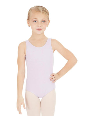 Capezio High-Neck Tank Leotard - Girls - Purple - Front - Style:CC201C