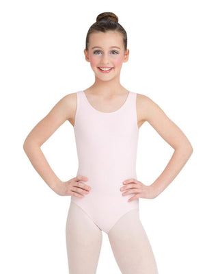 Capezio High-Neck Tank Leotard - Girls - Pink - Front - Style:CC201C