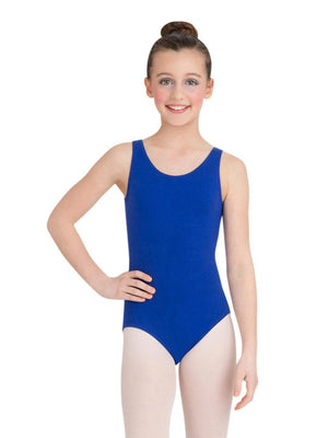 Capezio High-Neck Tank Leotard - Girls - Blue - Front - Style:CC201C