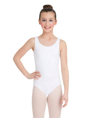 Capezio High-Neck Tank Leotard - Girls - White - Front - Style:CC201C