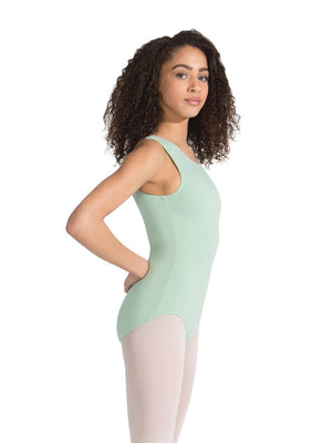 Capezio High-Neck Tank Leotard - Girls - Green - Style:CC201C