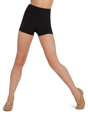 Capezio High Waisted Short - Girls - Black - Front - Style:TB131C