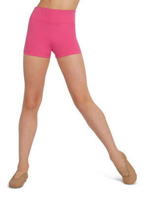 Capezio High Waisted Short - Girls - Pink - Front - Style:TB131C