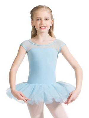 Capezio Keyhole Back Tutu Dress - Girls - Blue - Style:11394C