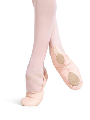 Capezio Leather Cobra Ballet Shoe - Pink - Style:2033