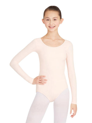 Capezio Long Sleeve Leotard - Pink - Front - Style:TB135