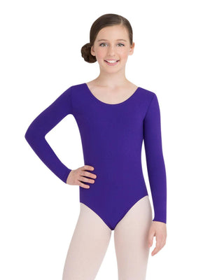 Capezio Long Sleeve Leotard - Girls - Purple - Front - Style:TB134C