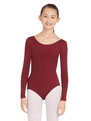 Capezio Long Sleeve Leotard - Brown - Front - Style:TB135
