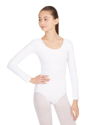 Capezio Long Sleeve Leotard - White - Front - Style:CC450