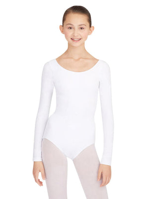 Capezio Long Sleeve Leotard - White - Front - Style:TB135