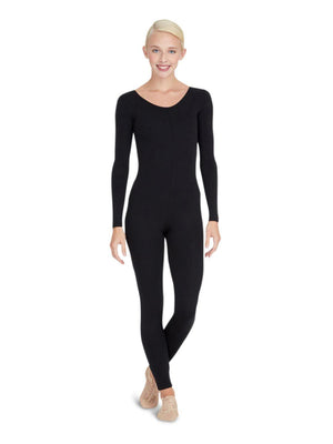 Capezio Long Sleeve Unitard - Black - Front - Style:TB114
